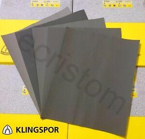 Wet and dry sandpaper mix mixed grit 600 1000 1200 1500 2000 KLINGSPOR PS8A
