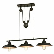 Westinghouse Three-light Indoor Island Pulley pendant Lámpara de techo con Po...