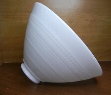 """10"""" WHITE TORCHIERE PENDANT SHADE 5-3/8""""x 2-3/4"""" WAFFLE w/ HORIZONTAL DIVIDERS"""
