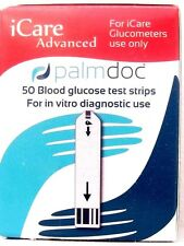 Palmdoc iCare Advanced blood glucose test strips,pack of 50,6 second testing