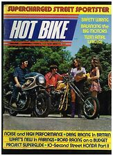 HOT BIKE NOVEMBER 1971 CONTENT AEE HD DUAL AMAL MANIFOLD CUSTOM STREET CHOPPER