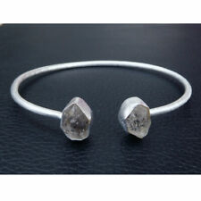 Herkimer Diamond Bracelet 925 Sterling Silver Herkimer Diamond Crystal-
