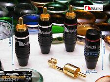 4 Plugs Rca Nakamichi Model 2 Male Gold 24 K Cable Hifi Audio DIY