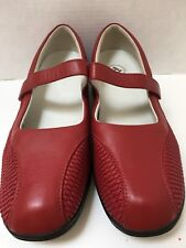 Women's Propet Erika Red Leather Mary Janes NEW Size 12