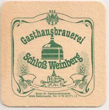 Gasthausbrauerei Schloß Weinberg - alter Bierdeckel aus Kefermarkt/OÖ