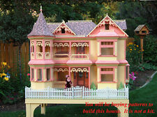 Woodwork (paper) plans to build a Victorian Barbie house. Not a kit