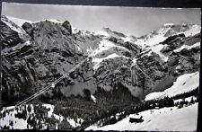 SWITZERLAND~SCHWEIZ~1939 ADELBODEN~LUFTSEILBAHN BIRG~ENGSTLIGENALP~GONDOLA~ RPPC