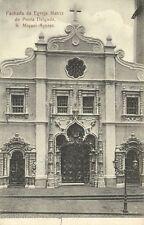 portugal, Azores Acores, PONTA DELGADA, Fachada da Egreja Matriz (1899)