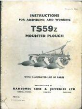 RANSOMES ARATRO ts59z operatori manuale-TS 59 Z