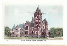 Market St M E Church Logansport In 1908 Methodist Episcopal Postcard 693