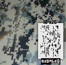 Redleg Camo 18x26 Digital camouflage stencil airbrush cerakote durakote duck