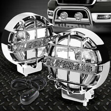 "6"" ROUND CHROME HOUSING CLEAR FOG LIGHT/OFFROAD SUPER 4X4 GUARD WORK LAMP+SWITCH"