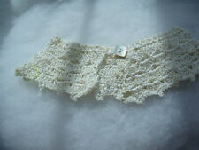 Gold hand crochet cotton lace detachable collar vintage inspired one size (6)