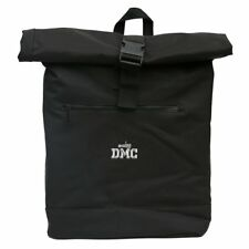 DMC Roll Top BATTLE backpack VINILO / portátil (Negro / Plateado Logo) drt1