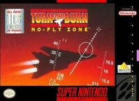 Turn and Burn No-Fly Zone Super Nintendo Game SNES Used