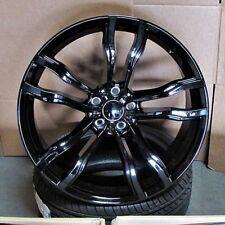 BMW X6 M Style 22x10/11 5x120 +40/+35 Glosss Black Wheels (Set of 4)