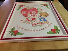 3 Framed Vintage Strawberry Shortcake Card Board Wall Hangings