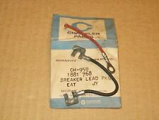 1959 60 61 Plymouth Dodge Desoto Chrysler NOS MoPar Dual Point LEAD WIRE PKG