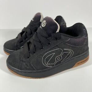 Heelys Shoes Black and Tan Brown Size Youth 1 - Kids