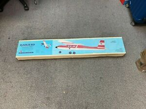 RARE VINTAGE MODEL AIRPLANE KIT NOS EAGLE 63 CARL GOLDBERG R/C