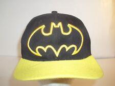 Batman Sixflags Adjustable Baseball Hat Cap Snapback Black Yellow