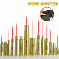 Red Laser boresight Cartridge Bore Sighter CAL 7MM/8MM/9MM/223/308/7.62/12GA/38