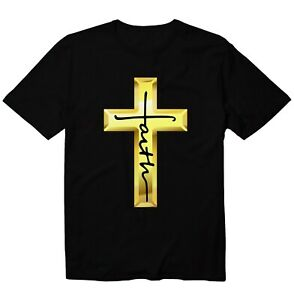 Jesus Faith Cross Christian Unisex Kid Youth Graphic T-Shirt