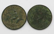 1799 x 2 George III Halfpenny Coins (MZ13)
