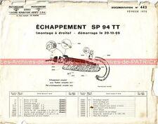MOTOBECANE SP 94 TT : Note N°443 'Echappement' MOTOCONFORT