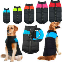 Warm Dog Winter Clothes Waterproof Small Large Pet Dogs Coat Jacket Vest S -7XL