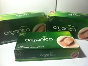 8 x Eyebrow Threading 8 Spool Organica 'Organic' 100% Cotton Thread Hair Remover