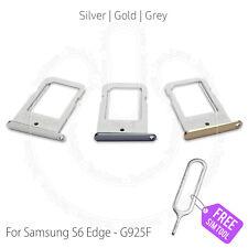 SAMSUNG Galaxy S6 Edge G925 Sim Card Tray Holder Slot + Free Ejector Pin Tool