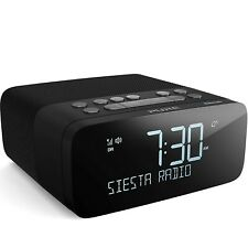 Pure Siesta Rise S DAB+/DAB/FM Digital Radio Alarm Clock with Bluetooth - Bed...