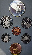 1992 Seven 7 Coin Canada Double Dollar RCM Proof Set Stage Coach Silver $1