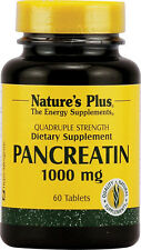 Pancreatin 1000 mg, 60 Tablets - Quadruple Strength - Nature's Plus