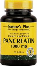 Pancreatin,1000 mg, 60 Tablets - Quadruple Strength - Nature's Plus