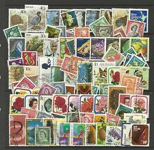 NEW ZEALAND Collection Packet of 100 Different Stamps Postmarked Condition
