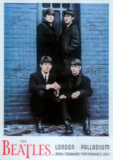 THE BEATLES REPRO SIGNED POSTER LONDON PALLADIUM 1963 ROYAL COMMAND PERFORMANCE