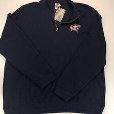 NHL Columbus Blue Jackets 1/4 Zip Sweater Pullover Men's Size 2XL