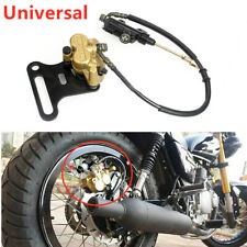 Motorcycle Hydraulic Rear Disc Brake Caliper w/Master Cylinder Brake System