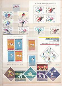 Briefmarken Polen 1964 Jahrgang  Komplett postfrisch