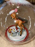 Boule ORNEMENT Bambi Panpan  Disneyland Paris Neuf New