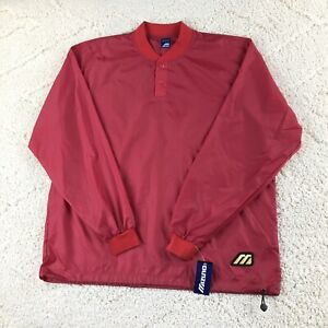 MIZUNO Rain Jacket XXL 2XL Warm Up Jacket Baseball Softball Red NEW Performance