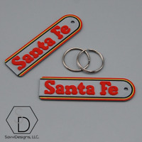 Santa Fe Warbonnet Railroad Railway Keychain (Pack of 2)