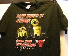 1996 Chicago Bulls NBA Champions T-Shirt XXL New 2XL Back Where it Belongs