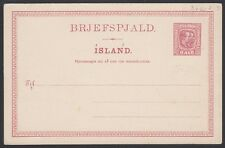 ICELAND, 1907. Post Card  H&G 36, Mint **
