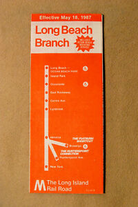 Long Island Railroad - Long Beach Branch - May 18, 1987