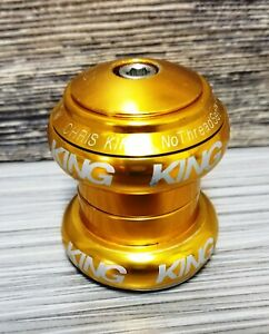 """Chris King 1 1/8"""" threadless headset LOGO Anodize GOLD complete KING GT-LTS Yeti"""