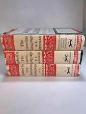 H L Mencken The American Language And Supplement 1 & 2 3 Volume Set 1962 4th Ed