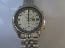 Seiko Chronograph Mens Watch Day & Date 6139-8050 Aftermarket Off White Dial